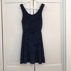 Velvet navy dress from Nordstrom